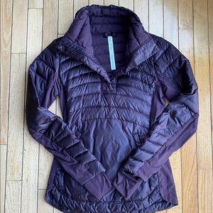 Lululemon Down Black Cherry Pullover Run Coat 6